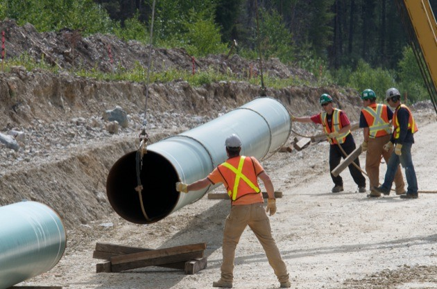 File photo of twinning of a previous section of the Trans Mountain pipeline near Jasper.