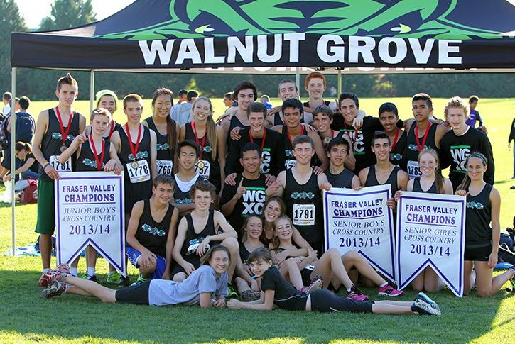 The Walnut Grove Gators cross-country teams won the junior boys, senior boys and senior girls Fraser Valley titles on Oct. 23.