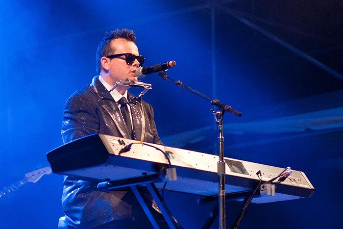Ryan Langevin stars as both Elton John and Billy Joel in The Piano Man, coming to Langley July 10.
