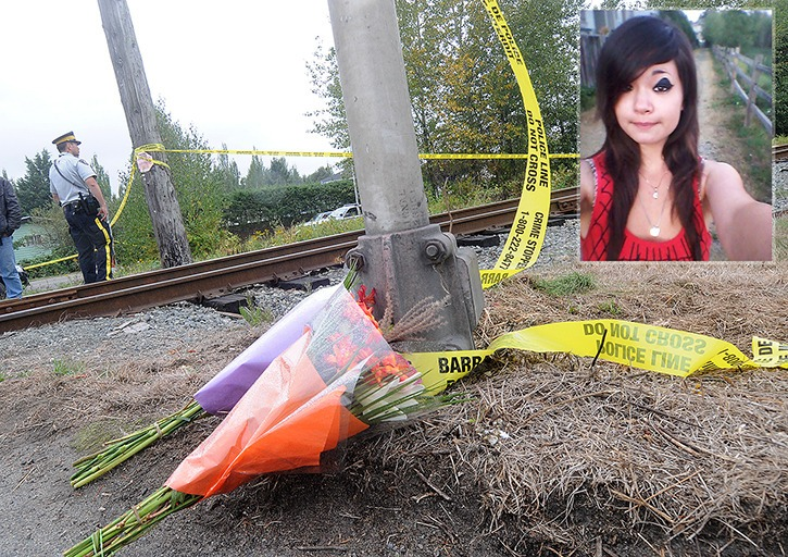 The body of Serena Vermeersch was found earlier this month in thick brambles by a Newton train track in the 14600-block of 66 Avenue.