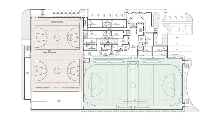 Plans for an expanded Langley Events Centre, show the addition of two gymnasiums, additional change rooms and an indoor turf/dry floor field.