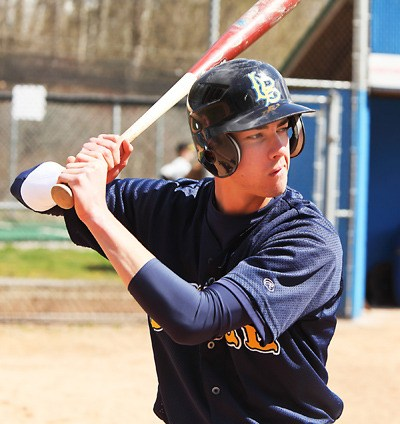 Langley Blaze's Ricky Bertrand and his teammates went 2-2 on the weekend, splitting a pair of doubleheaders in Victoria against the Mariners and at home on Sunday against the Nanaimo Pirates.