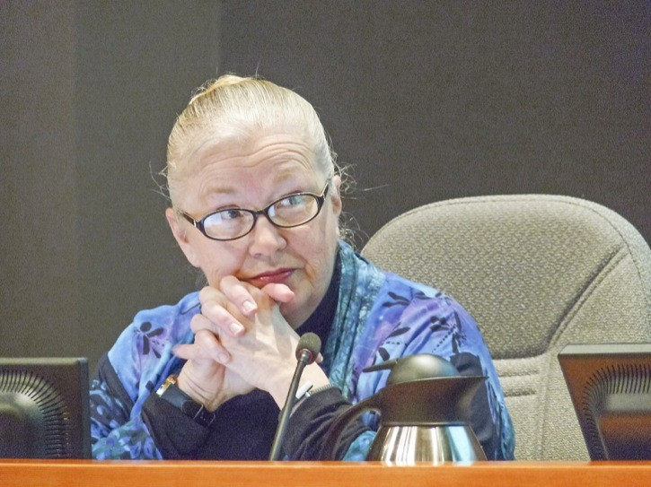 Councillor Kim Richter questioned the need to set money aside to widen the 208 Street overpass at a budget meeting Monday.