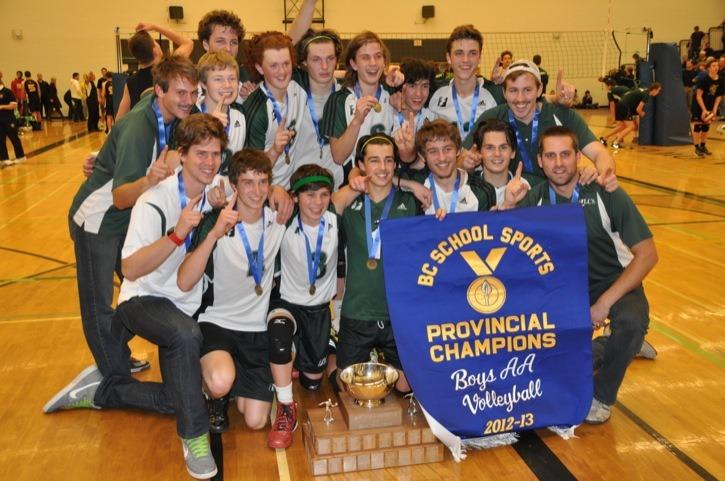The Langley Christian Lightning captured the B.C. senior boys volleyball provincial championship on Dec. 1 at the UBC Okanagan campus in Kelowna.