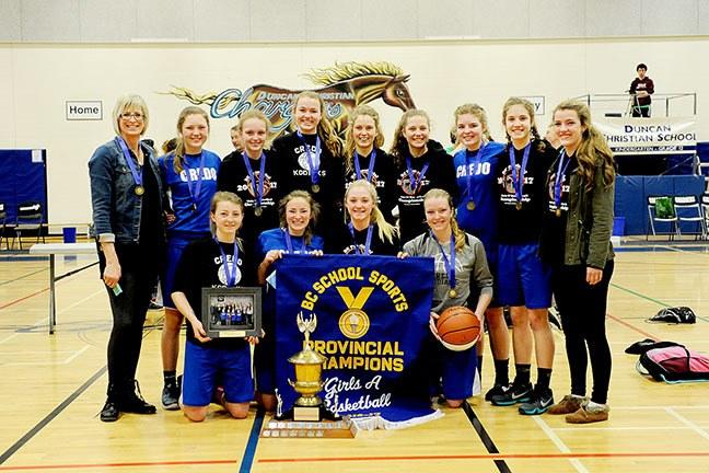 The Credo Christian Kodiaks are the 2017 B.C. senior girls 1A basketball champions.