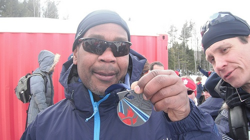 Langley's Lou Gibson won the silver medal in the men's 2.5km para-cross-country ski race on Monday at the Canada Winter Games.