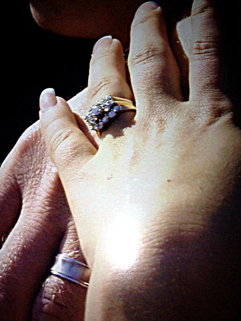 Michelle Sweet's wedding ring, which had belonged to her husband's mother, was stolen during a break-in that occurred at the family's home between July 6 and 8.