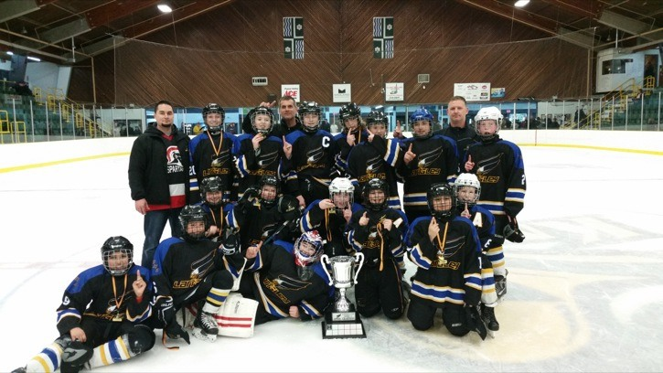 The Langley Spartans won the Langley Peewee Cup with a 3-1 defeat of the Langley Eagles.