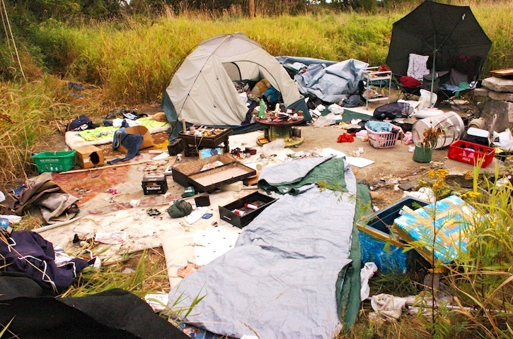 A new report estimates there have been several larger homeless camps in the Langleys.