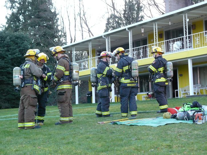 Fridge fire sends Langley woman to hospital