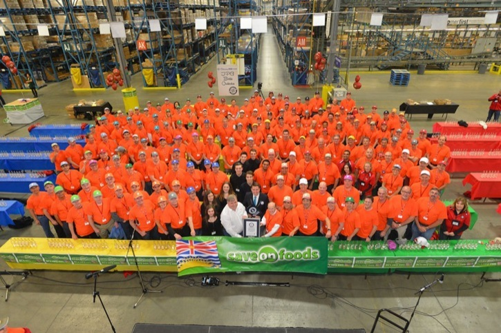Save-On-Foods set a new Guinness World Record as 172 people played 1,100 bottles. The previous record of most bottles played was 475 bottles.