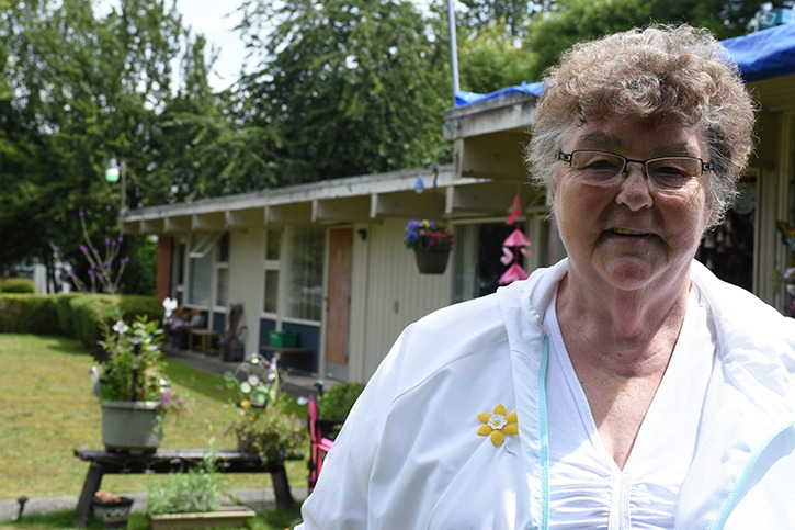 June Eliason said she wishes Langley Lions Senior Citizens Housing Society would repair and maintain her home of 21 years, rather than sell it.