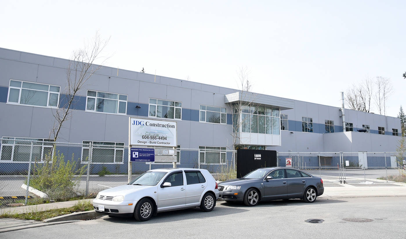 The Ebco facility is located at 18699 25 Ave. in South Surrey's Campbell Heights business park. Miranda Gathercole Langley Times