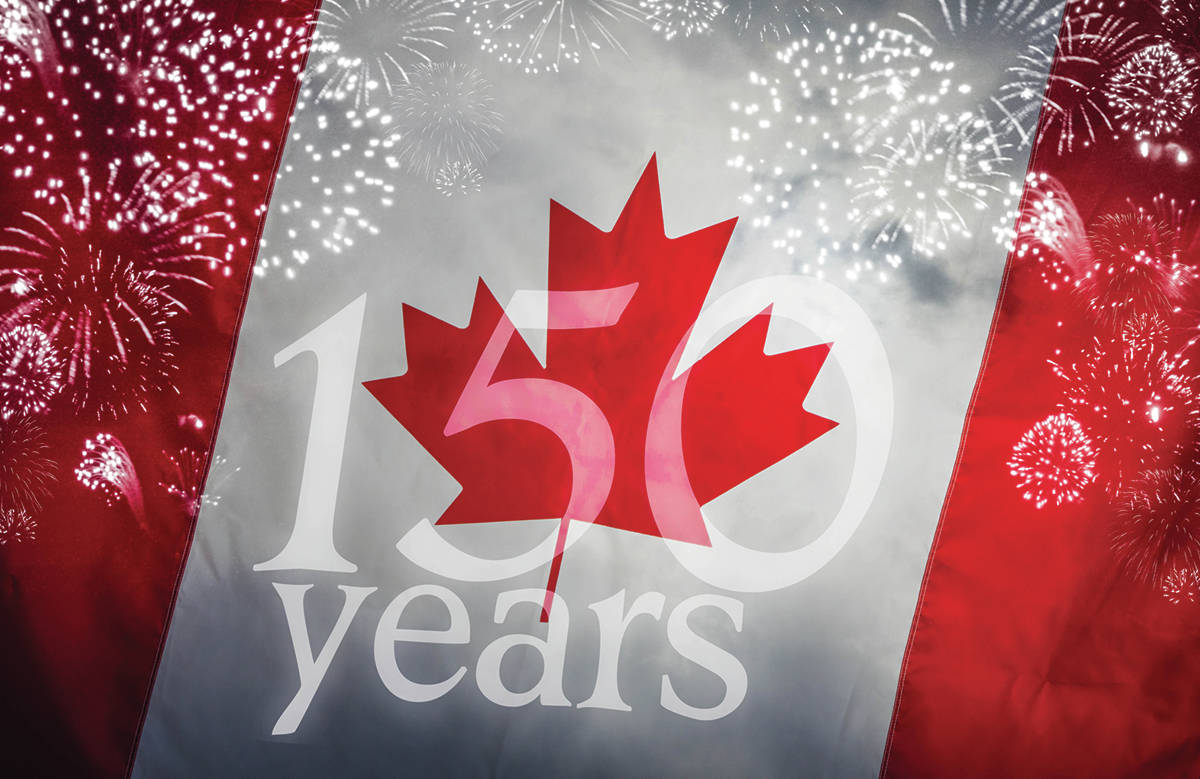 Image result for canada 150 flag