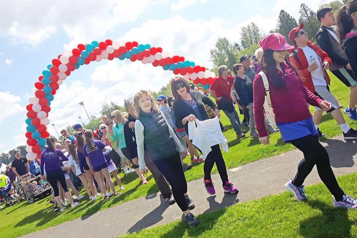 As many as 900 people took part in the annual Langley Walk held Sunday in Willoughby.                                Dan Ferguson Langley Times