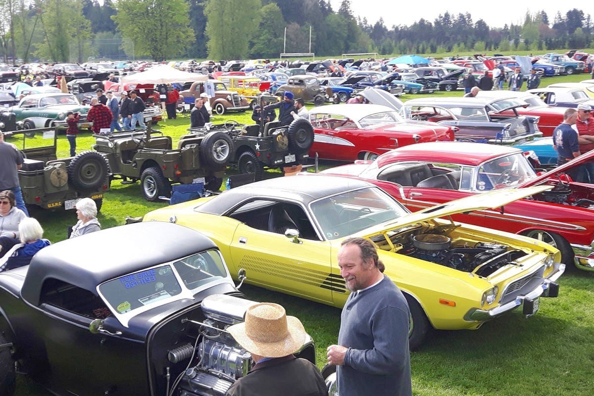 Hundreds attended the 30th annual car show at D.W. Poppy school in Langley.                                Dan Ferguson Langley Times