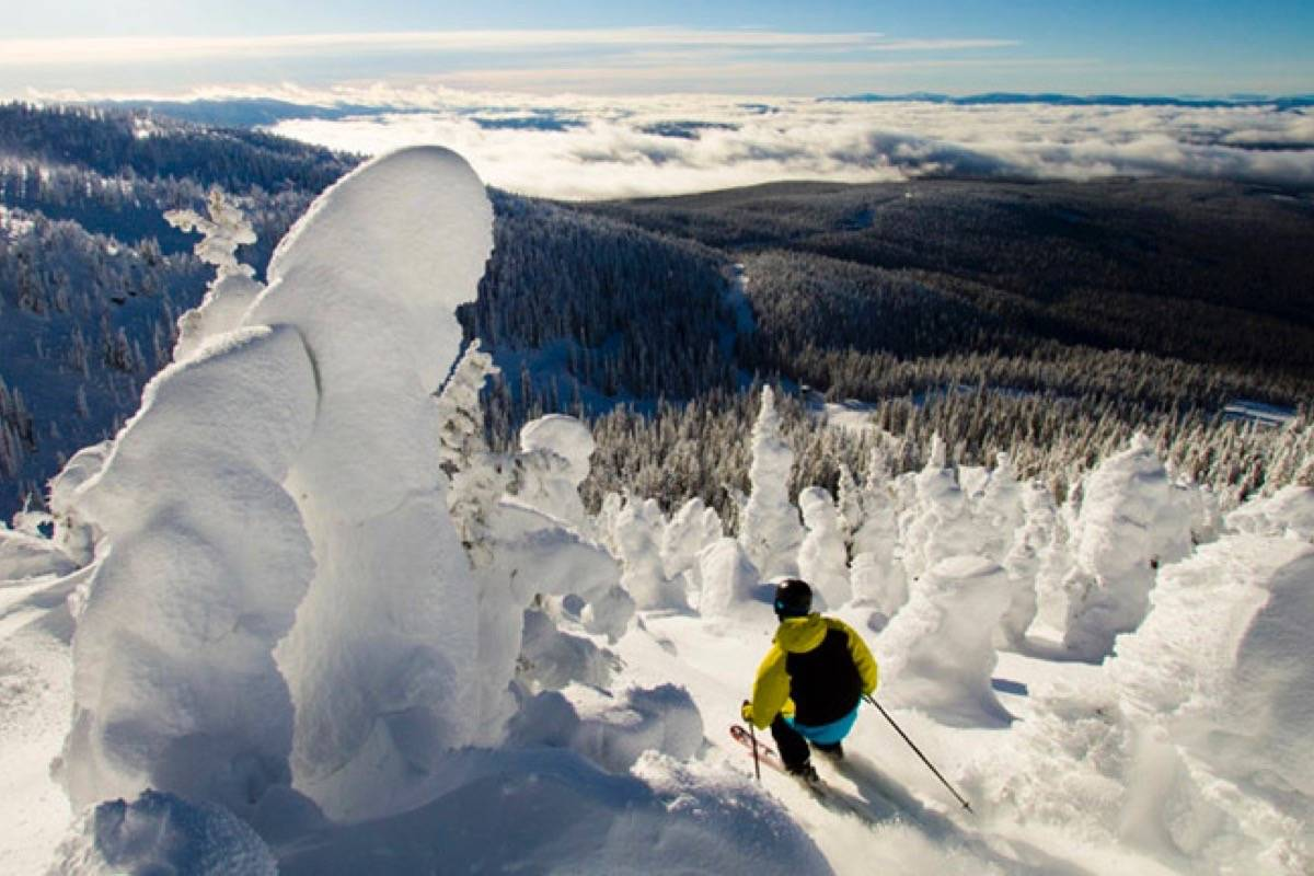 Snowpack that made for great skiing has grown in cool spring. (Big White Ski Resort)