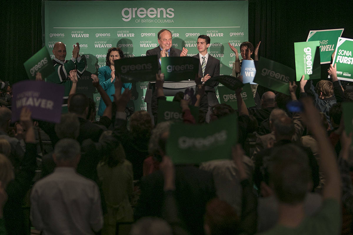 BC Greens gain two more seats in 2017 provincial election