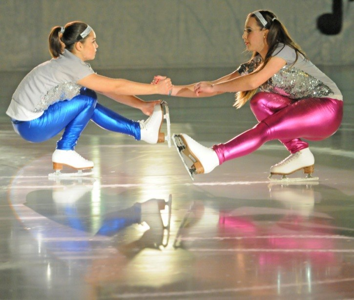 The Langley Figure Skating Club held their bi-annual ice show at the George Preston Recreation Centre on Saturday with a pair of shows. This year's theme was Dancing the Night Away and featured more than 175 skaters performing 23 dance-themed numbers. Mikaela George and Claudia Enriquez joined together to open the show with a disco-inspired dance.