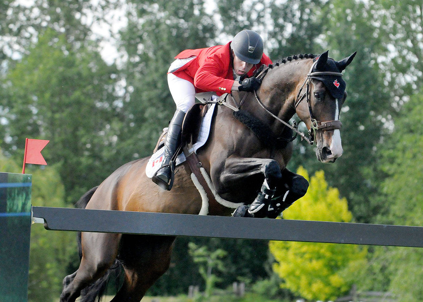 Team Canada's Christopher Surbey, aboard Chalacorada, navigated the course during the FEI Nations Cup held Friday at Thunderbird Show Park. Troy Landreville Langley Times