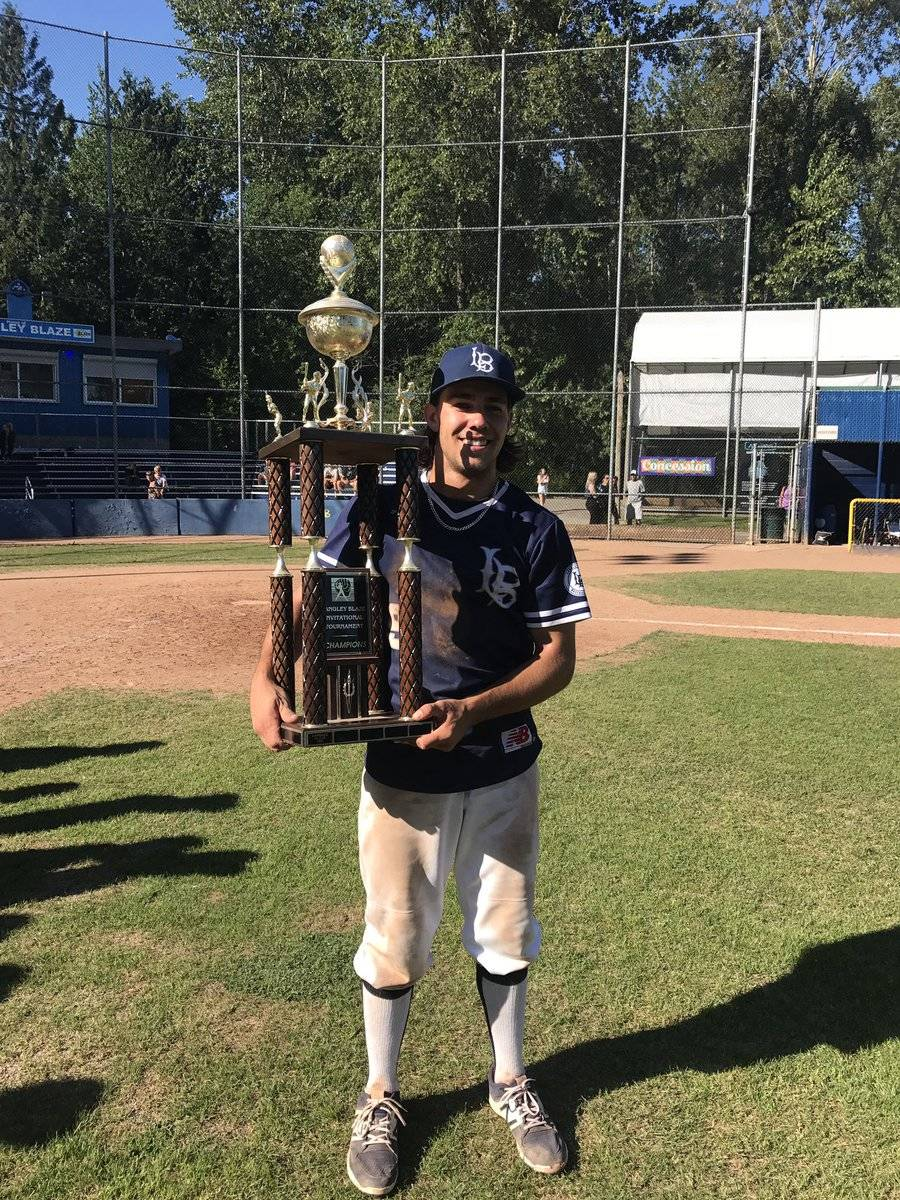 Langley Blaze's Danny Berg was named the top hitter at the Langley Blaze Invitational after cranking out 10 hits over six games.