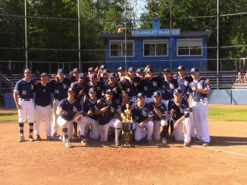 The Langley Blaze were crowned champions of the LBI tournament on Sunday at McLeod Park. Submitted photo.