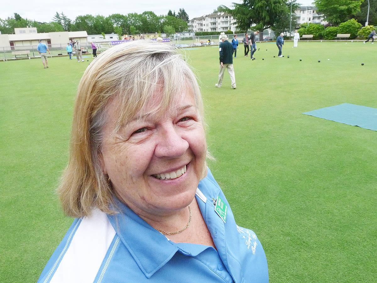 Langley Bowling Club president Barbara Miller. Dan Ferguson Langley Times