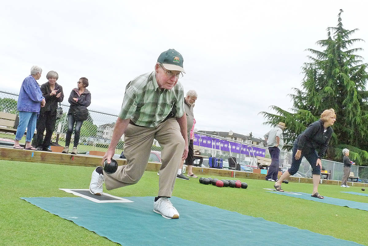 A try-it-for-the-first-time event at the Langley Lawn Bowling Club drew about a dozen newcomers. Dan Ferguson Langley Times