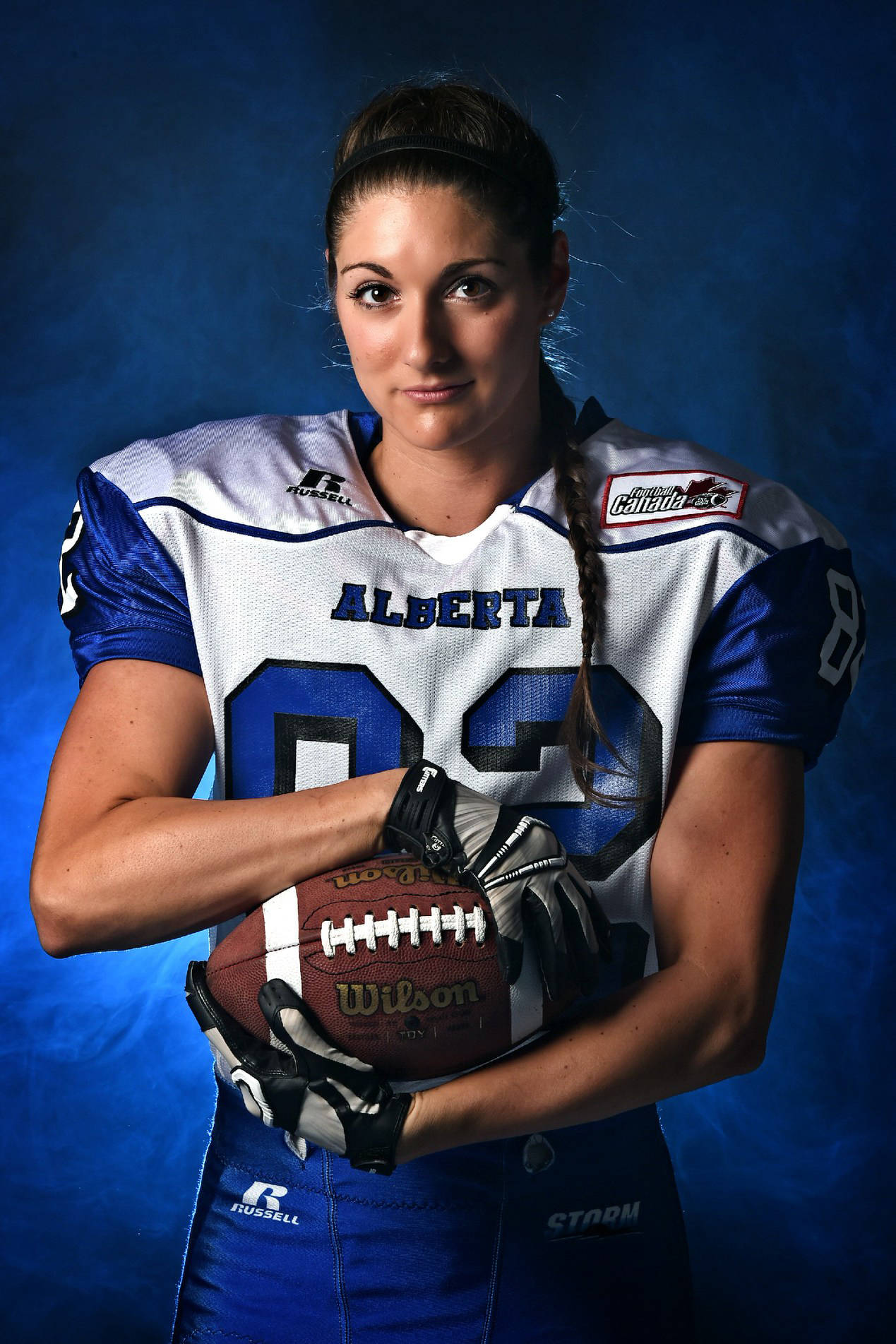 Calgary's Alicia Wilson is a wide receiver for Team Canada as McLeod Athletic Park gets set to host the six-team IFAF women's world tackle football championships. The event gets underway June 24 with games also on June 27 and June 30 Candice Ward Photography