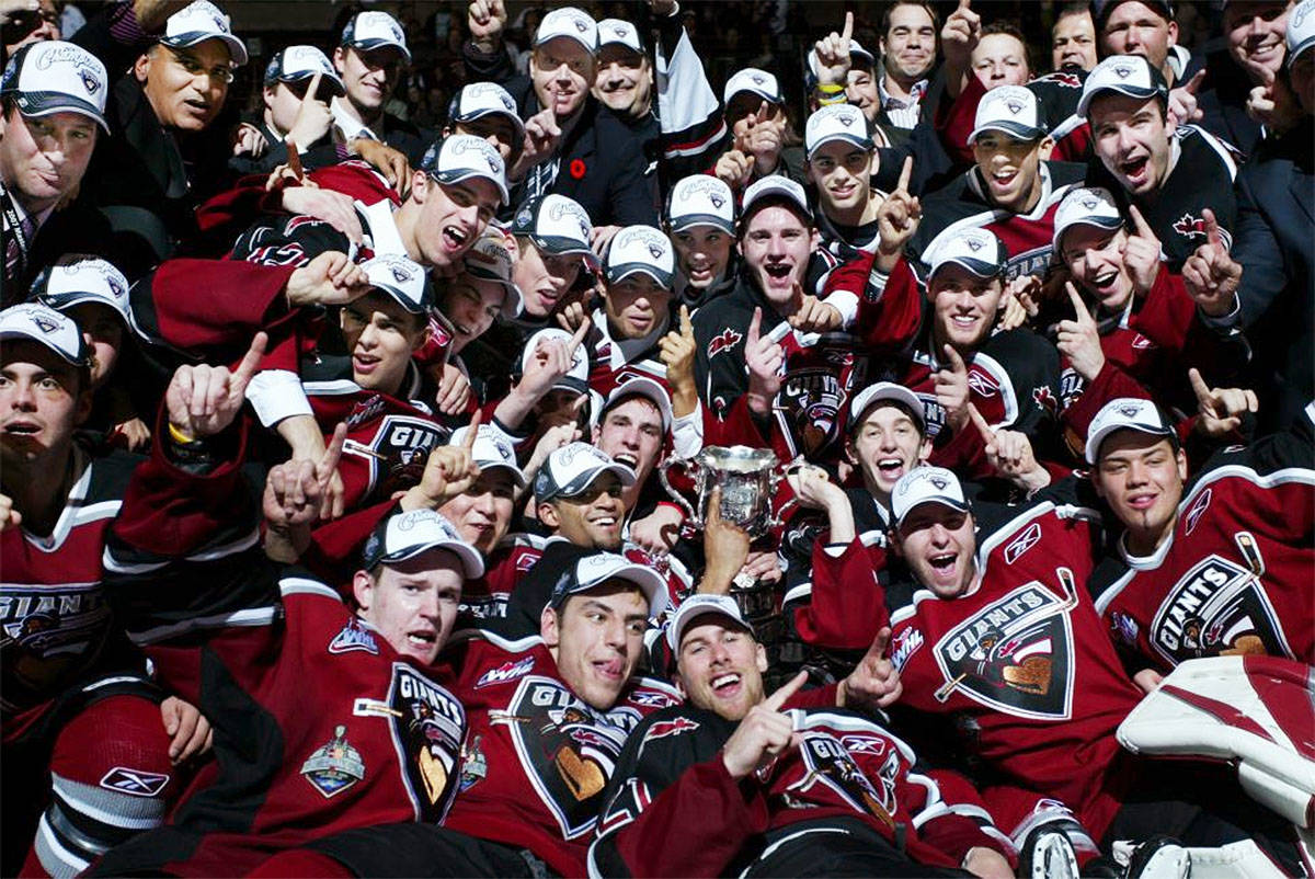 The Vancouver Giants 2007 Memorial Cup-winning team celebrated their cup victory, in front of 16,000 fans at the Pacific Coliseum. Vancouver Giants photo