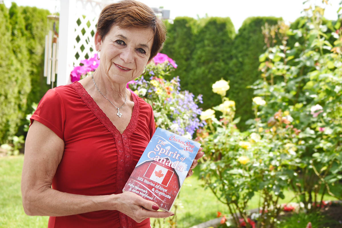 Frances McGuckin has published two stories in Chicken Soup for the Soul: The Spirit of Canada, a commemorative Canada 150 book. Aldergrove author Pamela Kent also has one story published in the book. Miranda Gathercole Langley Times