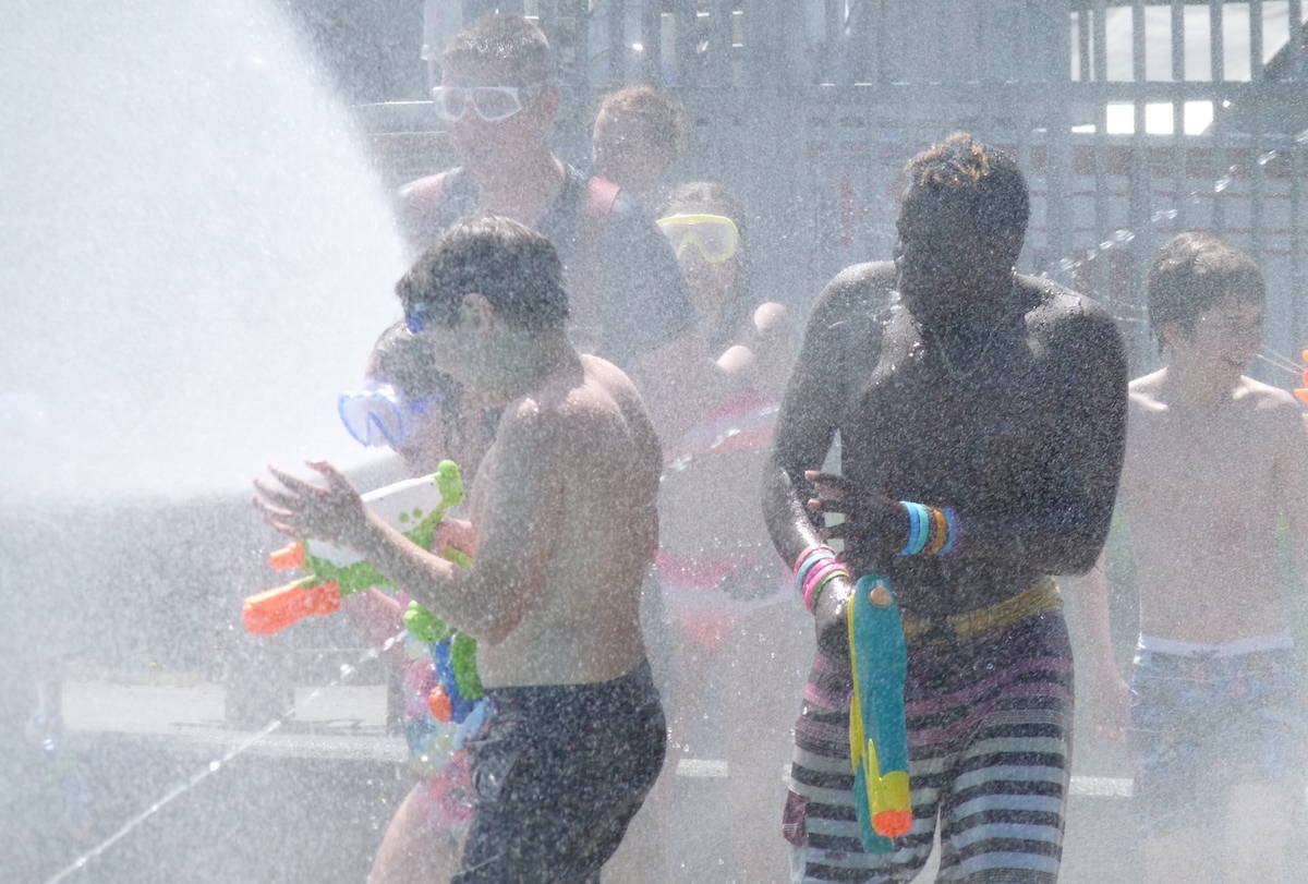 VIDEO and PHOTOS: Legendary water fight is a Langley City tradition