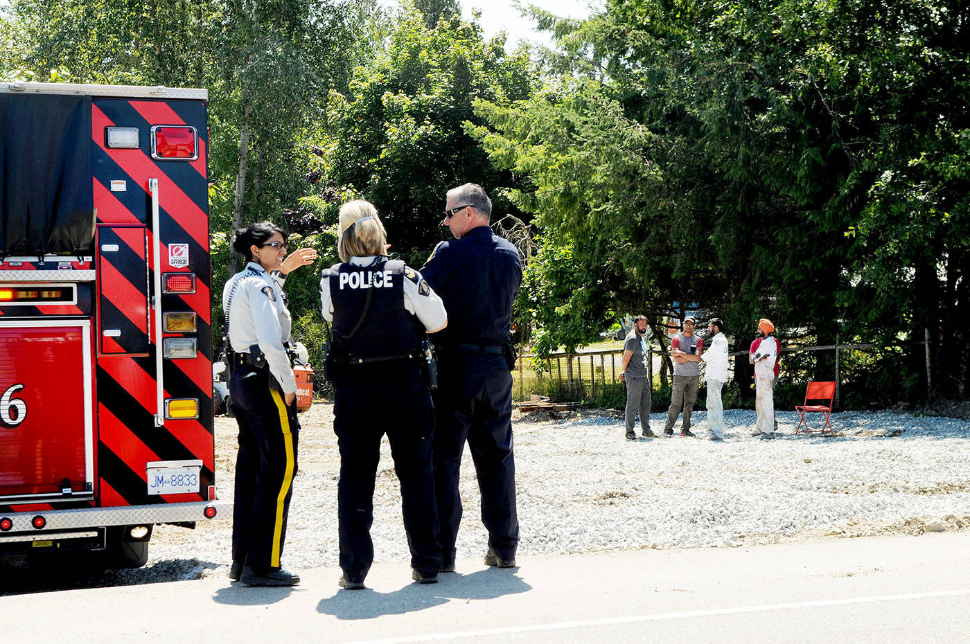 A 50-year-old man was seriously injured in a workplace accident in Murrayville Wednesday afternoon. Troy Landreville Langley Times
