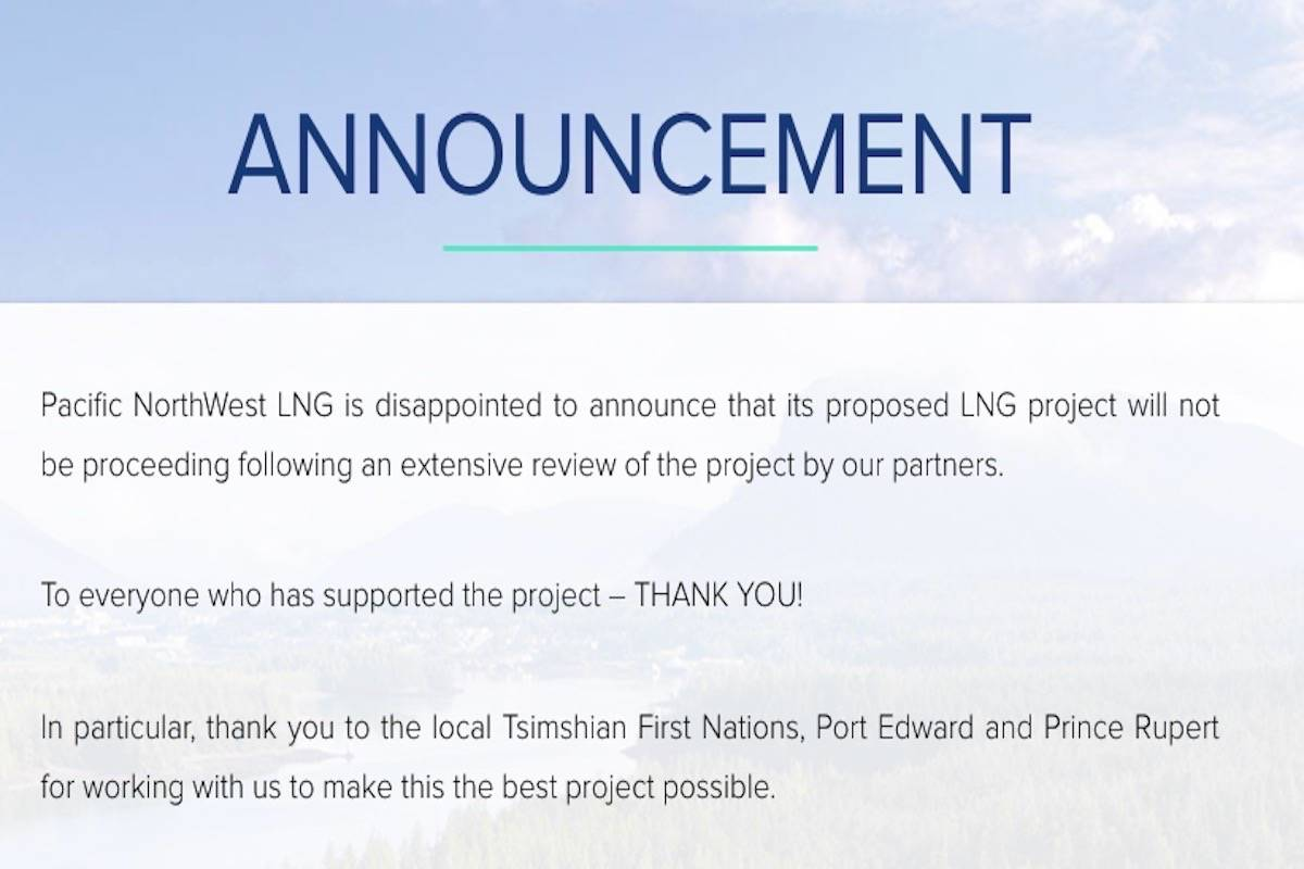 (Screenshot of Pacific Northwest LNG website)