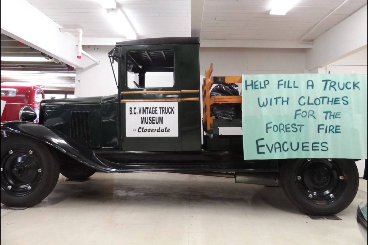 B.C. Vintage Truck Museum gives a truck full of clothes to wildfire evacuees