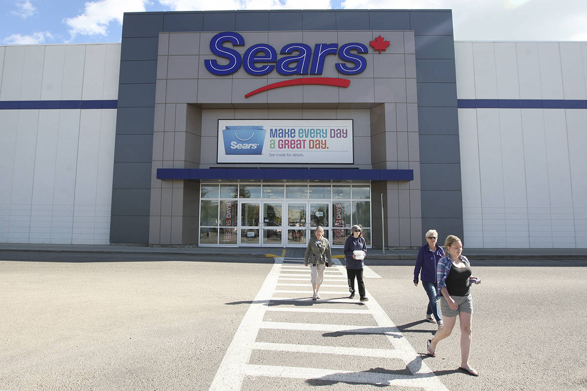 Sears Canada announced it will be closing their store at Bower Place in Red Deer. (Photo by Jeff Stokoe/Advocate staff)