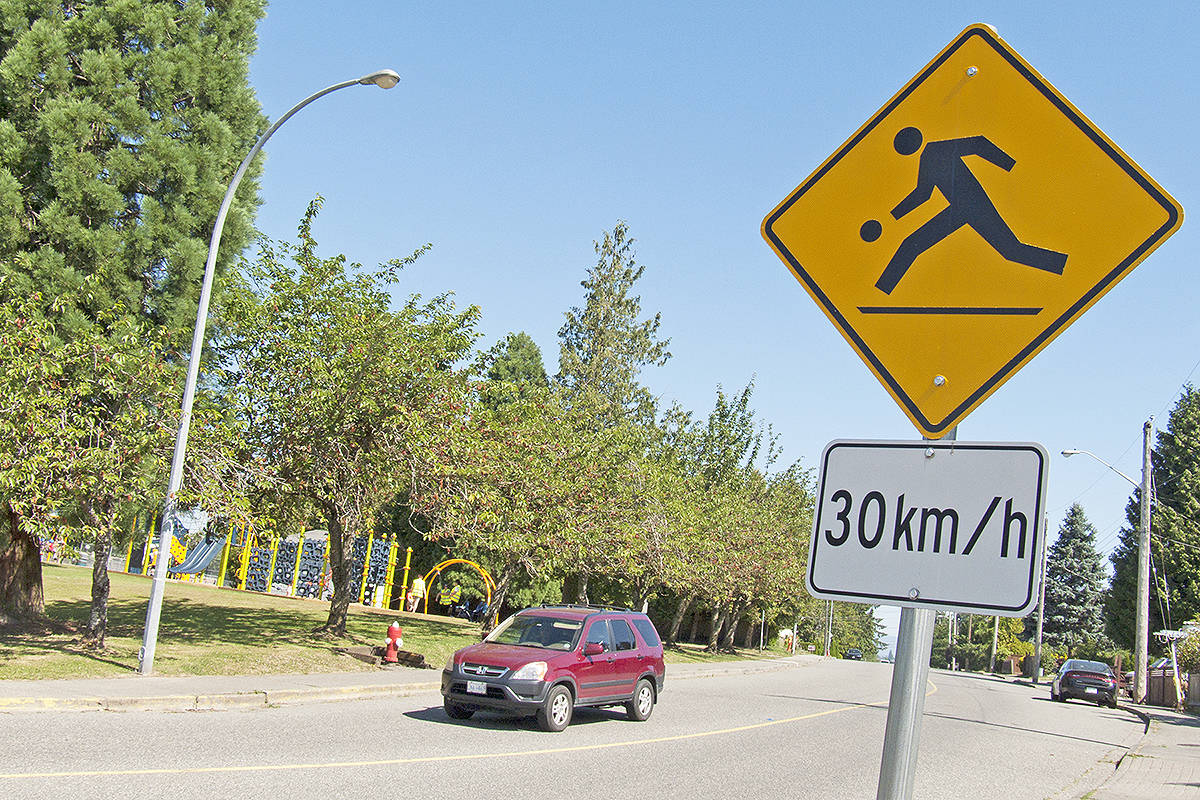 The City of Langley will spend more than $90,000 on speed bumps and other measures to deter speeding near the children's playground in Brydon Park. Dan Ferguson Langley Times