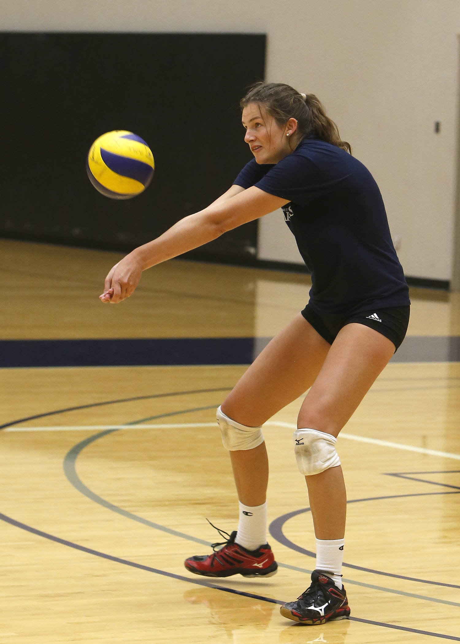 Langley's Avery Heppell has joined the Trinity Western Spartans women's volleyball program. Scott Stewart TWU Athletics photo