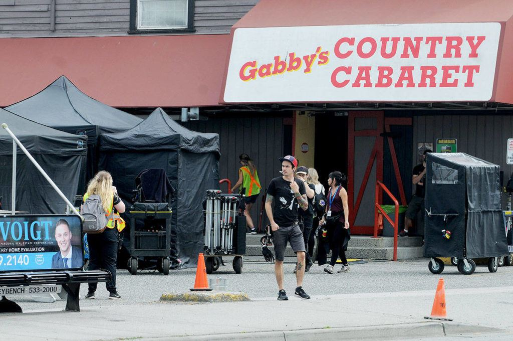 A film crew took over the parking lot of Gabby's Country Cabaret on Fraser Highway Wednesday as shooting of the series Riverdale continues. Troy Landreville Langley Times