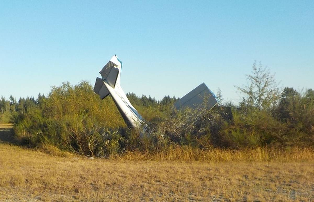 Crash scene. Courtesy RCMP