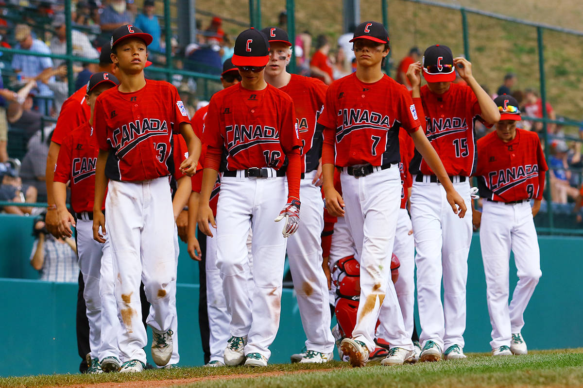 Team Canada after a 10-0 loss to Japan in the Little League Baseball World Series. (Photo courtesy of Little League Baseball and Softball)