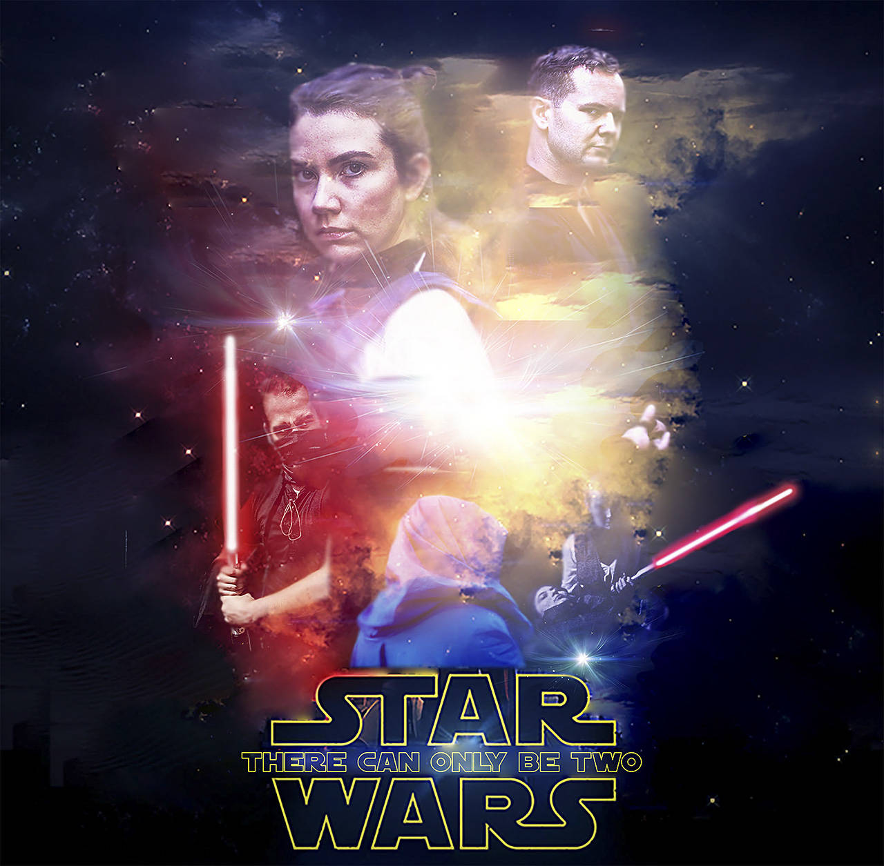 The official poster for There Can Only Be Two, a Star Wars fan film shot and edited across numerous locations on Vancouver Island.