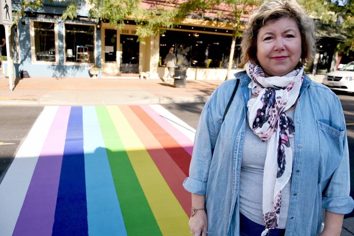 Artist Elaine Brewer-White spearheaded the rainbow crosswalk campaign. Miranda Gathercole Langley Times