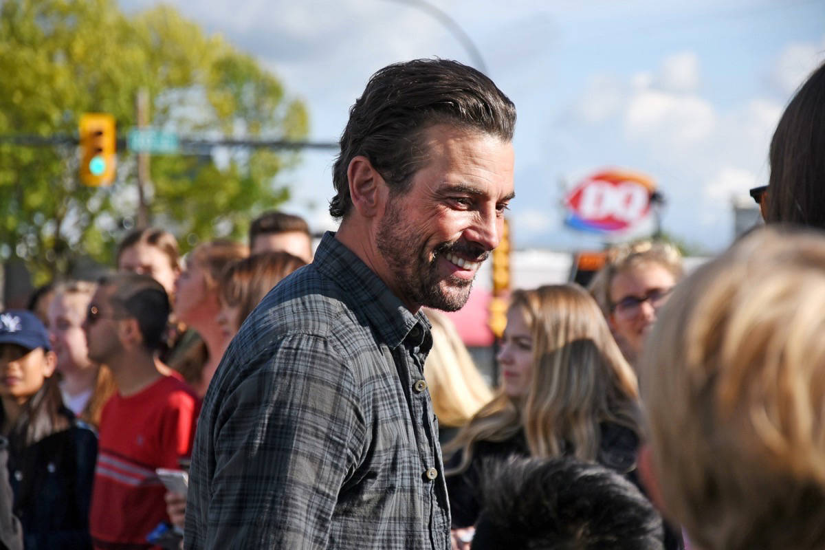 — Actor Skeet Ulrich took selfies with Riverdale fans outside of Gabby's Country Cabaret on Wednesday. Miranda Gathercole Langley Times.