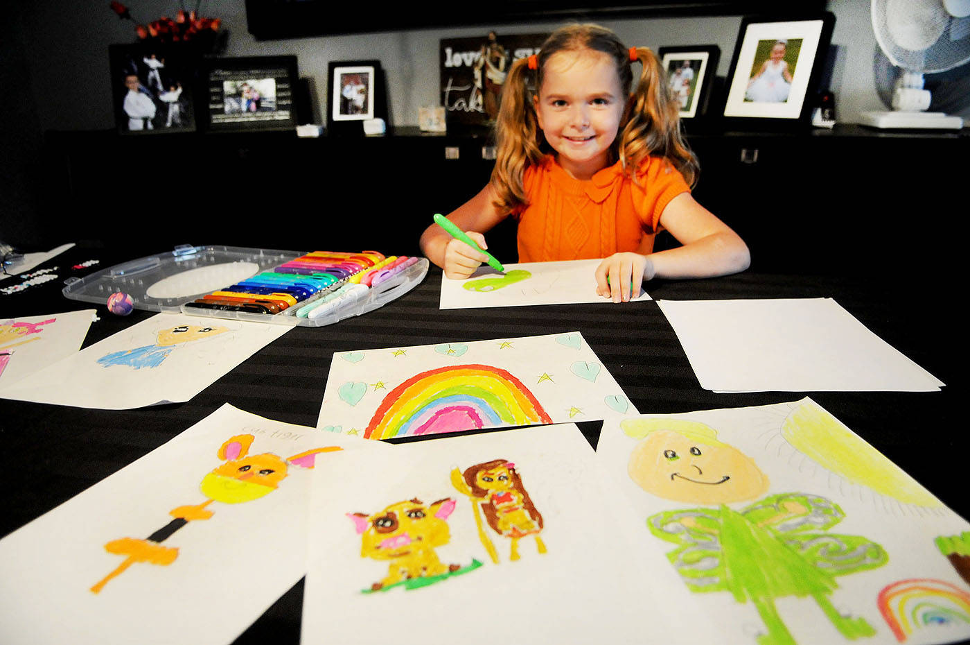 Through Aubrielle's Wish, all the money raised from the sale of Aubrielle Bibeau's drawings will be put towards gifts to donate to sick kids. The goal is to raise $1,000 for the Langley Christmas Bureau and the BC Children's Hospital.                                Troy Landreville Langley Times