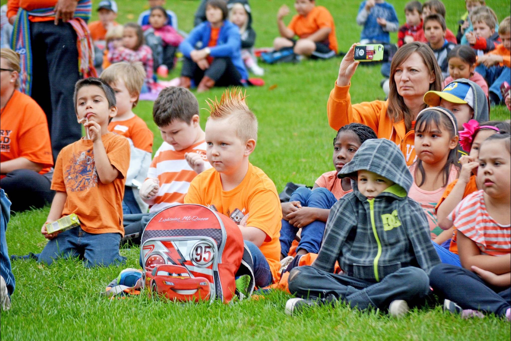 Students of all ages wore orange in recognition of Orange Shirt Day in Williams Lake. (Black Press files)