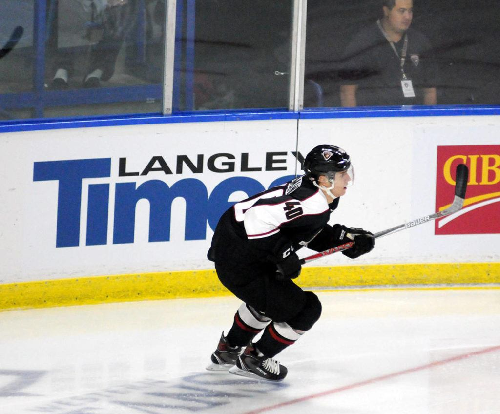 Milos Roman is one of three members of the Vancouver Giants on the NHL Central Scouting players to watch list. Gary Ahuja Langley Times