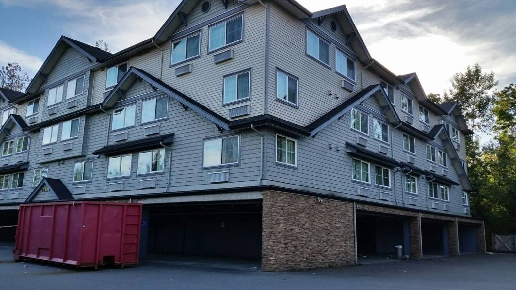 The now empty Quality Inn across from Home Depot on 200 Street is being proposed to house the homeless with supports in place. BC Housing along with Stepping Stone is holding a public meeting Oct. 30 starting at 5 p.m. at LEC. Monique Tamminga Langley Times