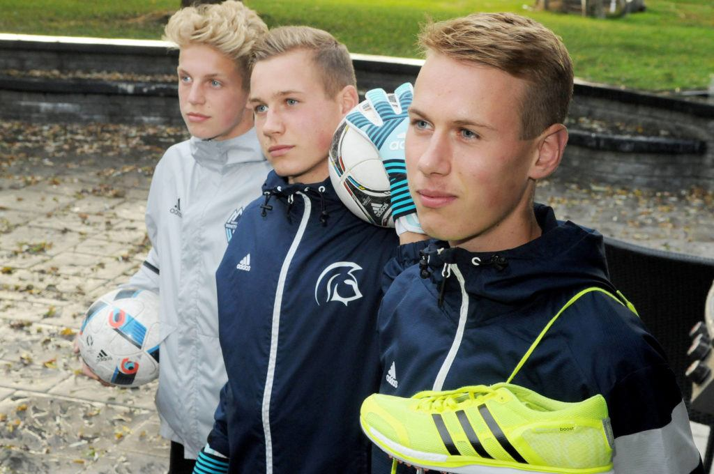 The Colyn brothers — Nick (right to left), Sebastian and Simon — are each excelling in their chosen sports. Nick, the eldest, is a cross-country runner for Trinity Western, while middle brother Sebastian is a goalkeeper for the Spartans soccer team. Simon is part of the Whitecaps Residency Program. Troy Landreville Langley Times