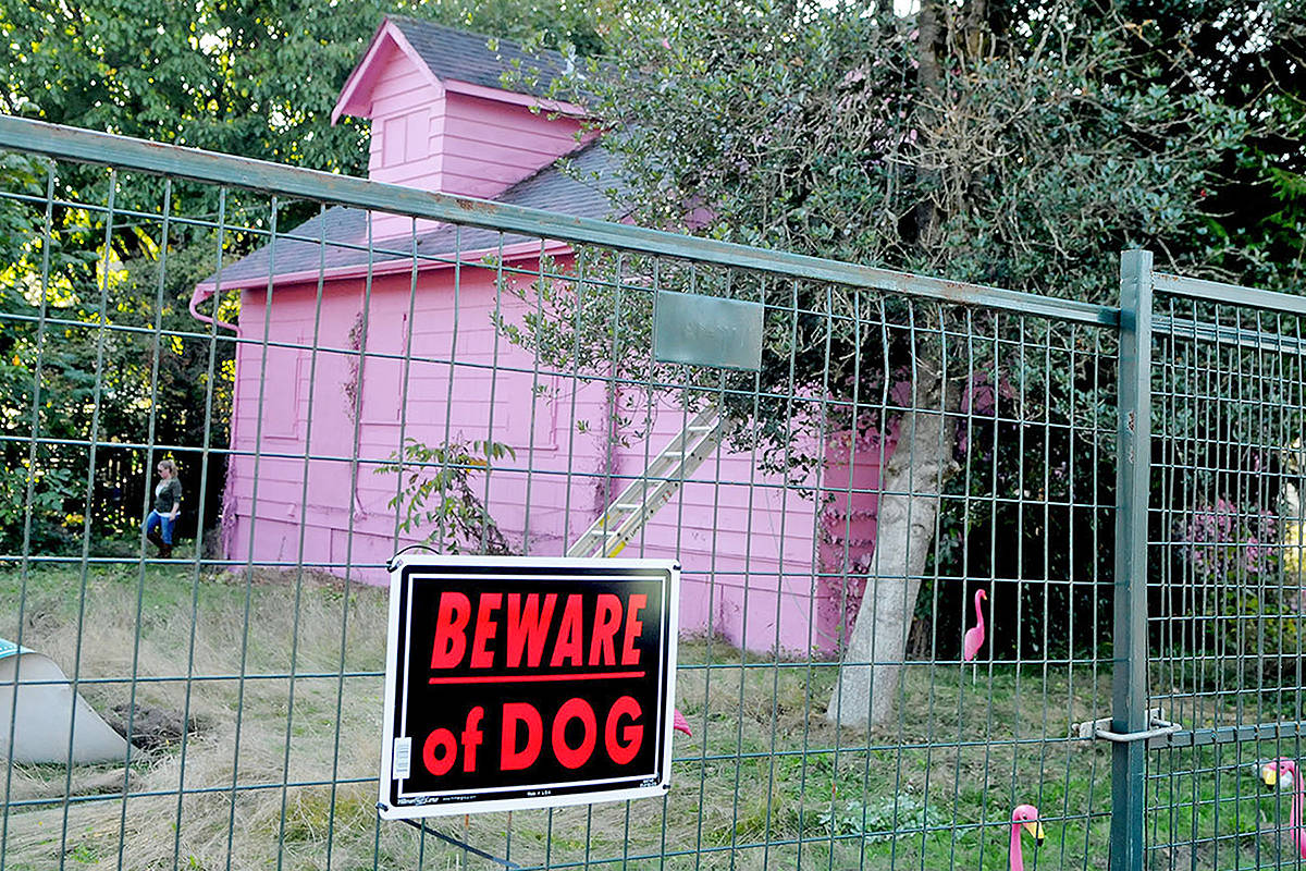 Dispute over demolition permit leads builder to paint house bright pink